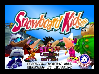 Snowboard Kids (USA) Title Screen