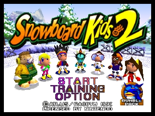 Snowboard Kids 2 (USA) Title Screen