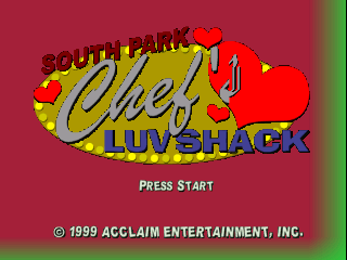 South Park - Chef's Luv Shack (USA) Title Screen