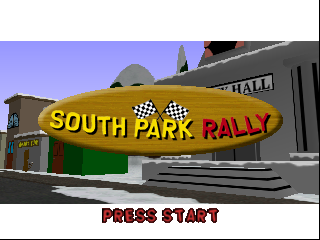 South Park Rally (Europe) Title Screen