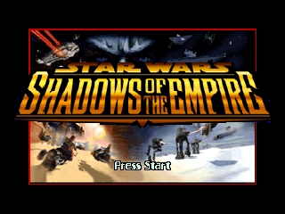 Star Wars - Shadows of the Empire (Europe) Title Screen