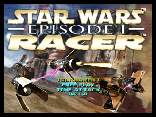 Star Wars Episode I - Racer (Europe) (En,Fr,De) Title Screen