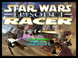 Star Wars Episode I - Racer (USA) Title Screen