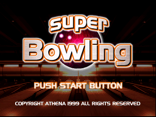 Super Bowling (Japan) Title Screen