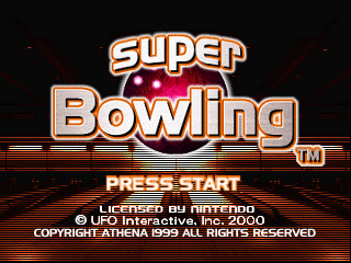 Super Bowling (USA) Title Screen