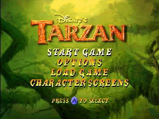 Tarzan (Europe) Title Screen