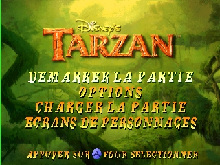Tarzan (France) Title Screen
