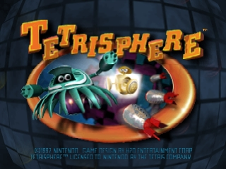 Tetrisphere (Europe) Title Screen
