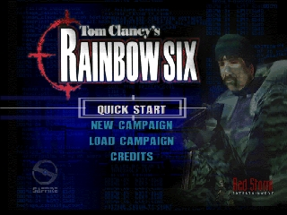 Tom Clancy's Rainbow Six (USA) Title Screen