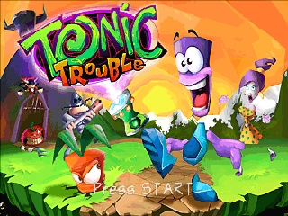 Tonic Trouble (Europe) (En,Fr,De,Es,It) Title Screen