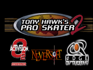 Tony Hawk's Pro Skater 2 (Europe) Title Screen