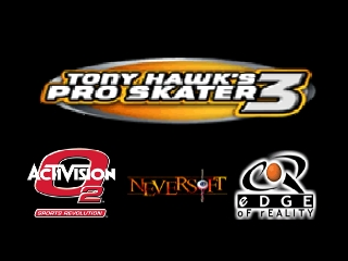 Tony Hawk's Pro Skater 3 (USA) Title Screen