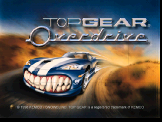 Top Gear Overdrive (Europe) Title Screen