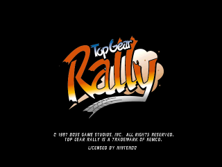 Top Gear Rally (Japan) Title Screen