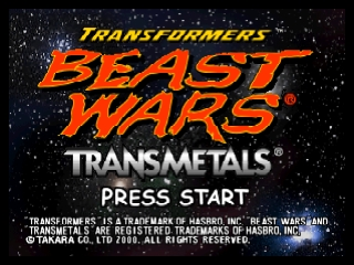 Transformers - Beast Wars Transmetals (USA) Title Screen