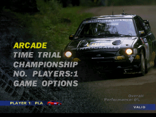 V-Rally Edition 99 (Europe) (En,Fr,De) Title Screen