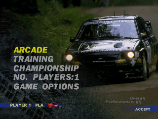 V-Rally Edition 99 (USA) Title Screen