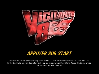 Vigilante 8 (France) Title Screen
