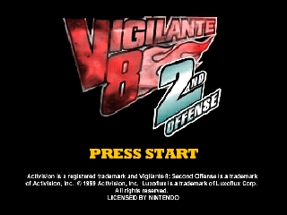 Vigilante 8 - 2nd Offense (USA) Title Screen