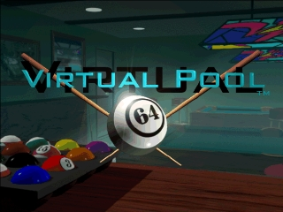 Virtual Pool 64 (Europe) Title Screen