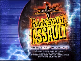 WCW Backstage Assault (USA) Title Screen
