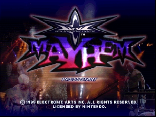 WCW Mayhem (Europe) Title Screen