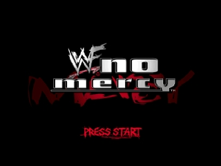 WWF No Mercy (USA) Title Screen
