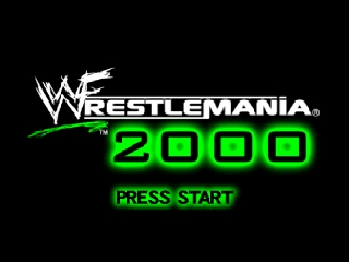 WWF WrestleMania 2000 (Japan) Title Screen
