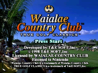 Waialae Country Club - True Golf Classics (USA) Title Screen