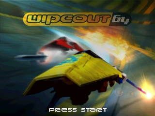 Wipeout 64 (Europe) Title Screen