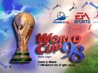 World Cup 98 (Europe) (En,Fr,De,Es,It,Nl,Sv,Da) Title Screen