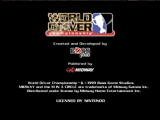 World Driver Championship (Europe) (En,Fr,De,Es,It) Title Screen