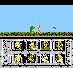 Advanced Dungeons & Dragons - Dragons of Flame (Japan) In game screenshot