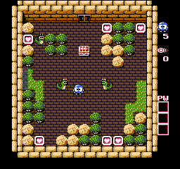 Adventures of Lolo 2 (USA) In game screenshot