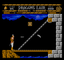 Dragon's Lair (USA) In game screenshot
