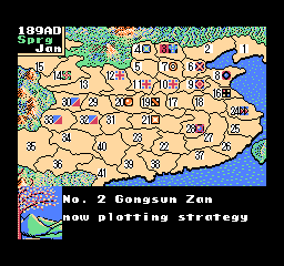 Romance of the Three Kingdoms II (USA) In game screenshot