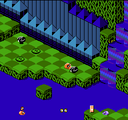 Snake Rattle n Roll (Europe) In game screenshot