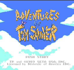 Adventures of Tom Sawyer (USA) Title Screen