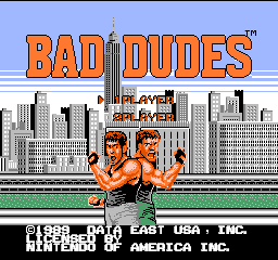 Bad Dudes (USA) Title Screen