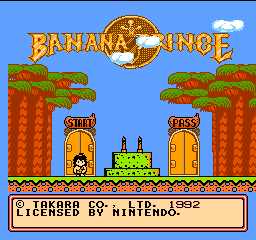 Banana Prince (Germany) Title Screen