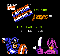 Captain America and the Avengers (USA) Title Screen