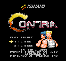 Contra (USA) Title Screen