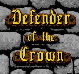 Defender of the Crown (France) Title Screen