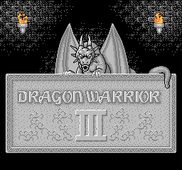 Dragon Warrior III (USA) Title Screen