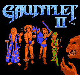 Gauntlet II (Europe) Title Screen