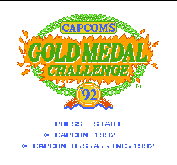 Gold Medal Challenge '92 (USA) Title Screen