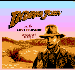 Indiana Jones and the Last Crusade (USA) (Taito) Title Screen