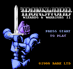 Ironsword - Wizards & Warriors II (Europe) Title Screen