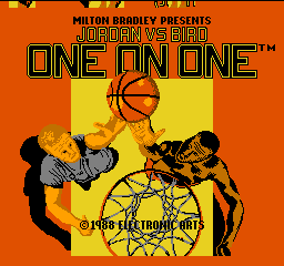 Jordan vs Bird - One On One (USA) Title Screen