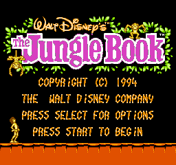 Jungle Book, The (Europe) Title Screen